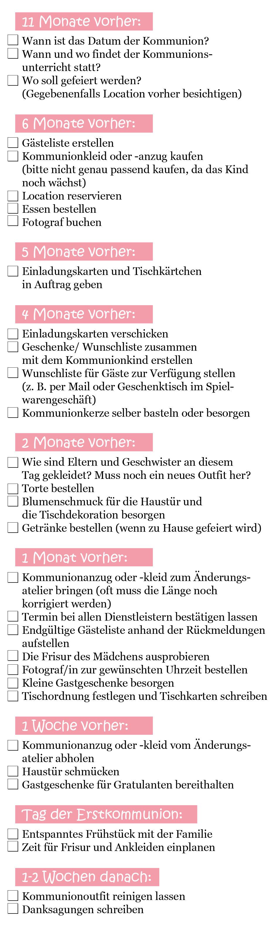 Checkliste_Erstkommunion
